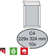 Quantore Bordrug Envelop C4 229x324mm, Zelfklevend, Wit, 10 stuks