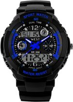West Watch – multifunctioneel kinder sport horloge -  model Storm – blauw