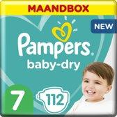 Pampers Baby-Dry Luiers - Maat 7 - 112 Stuks