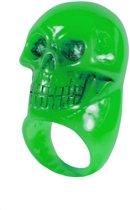 Groene doodskop ring - Verkleedattribuut