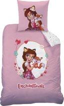 Enchantimals Felicity Fox - Dekbedovertrek - Eenpersoons - 140 x 200 cm - Roze