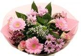 Biedermeier roze boeketje bloemen