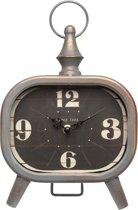 Clayre & Eef Klok grijs ijzer 19x5x26 cm 1xAA