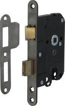 Nemef Veiligheidsslot 1279/17 Rechts - Hartafstand 55mm - Doornmaat 50mm - RVS voorplaat - SKG* - Met veiligheidssluitkom - Met sluitplaat - Met bevestigingsmateriaal