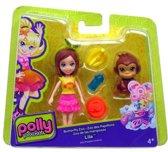 """Polly Pocket Butterfly Zoo speelfiguur setje """" Lila """""""