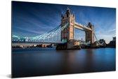 De Tower Bridge van Londen in het zonlicht Aluminium 120x80 cm - Foto print op Aluminium (metaal wanddecoratie)