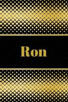 Ron: Personalized Journal to write in Positive Thoughts, Work Ideas, Business for Men, Entrepreneurs gifts holidays