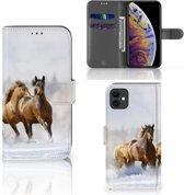 iPhone 11 Telefoonhoesje met Pasjes Paarden