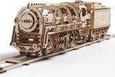 UGears - Houten Modelbouw - Locomotief met aanhanger