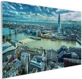 Skyline Londen bij dag Glas 120x80 cm - Foto print op Glas (Plexiglas wanddecoratie)
