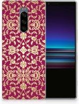 Sony Xperia 1 TPU Hoesje Design Barok Pink