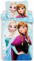 Disney Frozen Light Blue - Dekbedovertrek - Eenpersoons - 140 x 200 cm - Polyester