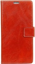 Mobigear Retro Luxe Wallet Hoesje Rood Honor Play