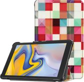 3-Vouw sleepcover hoes - Samsung Galaxy Tab A 8.0 inch (2019) - Blokken