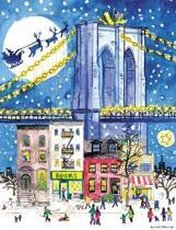 Michael Storrings Brooklyn Bridge Holiday Embellished Notecards