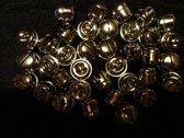 Kattenbelletjes. 36 stuks. 17 mm goud.