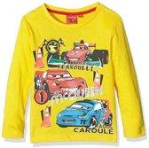 Disney Cars t-shirt - longsleeve - geel- maat 104