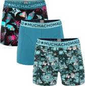 Muchachomalo Extinct plants Heren boxershort - 3 pack - print/Blauw - Maat S