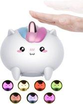 Siliconen Eenhoorn kinder en baby nachtlampje oplaadbaar met USB poort - leuke bedlamp - Led verlichting Kinderlamp - Leuk voor kinderkamer of babykamer - nachtlamp - Kleuren lamp zonder snoer - Jongenskamer of meisjeskamer