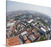Cityscape van Semarang in Indonesië Canvas 180x120 cm - Foto print op Canvas schilderij (Wanddecoratie woonkamer / slaapkamer) XXL / Groot formaat!
