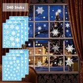 RX Goods® 240 Stickers Sneeuwvlokken Winter & Kerst Raam Decoratie – Kerstversiering - Sterren