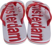 Ajax Slippers - Rood/Wit - Maat 37-38
