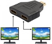 Hdmi Splitter 1 In 2 Uit - Male To Female - 1x2 Out Full HD 1080P HDMI Kabel Converter Verdeler