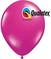 Ballonnen Metallic Magenta 30 cm 100 stuks
