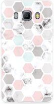 Galaxy J5 2016 Hoesje Marmer Honeycomb
