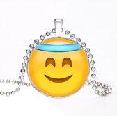 Emoji ketting gezegend gezicht