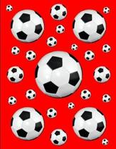 Soccer Notebook Score Keeping Journal Red 150 College Ruled Pages 8.5 X 11