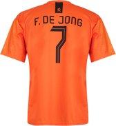 Nederlands Elftal Voetbalshirt thuis Frenkie de Jong 2018-2020 Kids-Senior-L