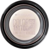 Maybelline Color Tattoo 24H - 45 Infinite White - Wit - Oogschaduw