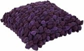 Haans Lifestyle Kussen Pebble paars - aubergine - 45cm