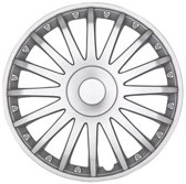 Car Plus Wieldoppen New York 16 Inch Abs Zilver Set Van 4