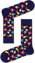 Happy Socks - Ice Cream - Donkerblauw Multi -  Unisex - Maat 36-40