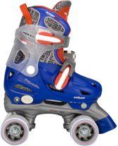 Nijdam Junior Rolschaatsen Junior Verstelbaar Hardboot Blauw Rood Antraciet 30 33