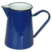 Waterkan emaille blauw- 1.5 liter