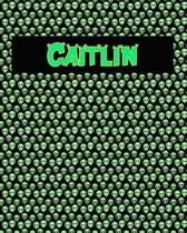 120 Page Handwriting Practice Book with Green Alien Cover Caitlin