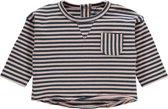 Imps&Elfs Meisjes T-shirt Aberdare - Orion Blue Stripe - Maat 62