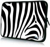 Sleevy 15,6 inch laptophoes zebra print