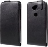 Huawei G8 flip tasje hoesje leer zwart