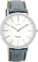 OOZOO Vintage Grijs/Wit horloge C8167