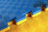 5m2 Legend Puzzelmat sport 4CM blauw geel