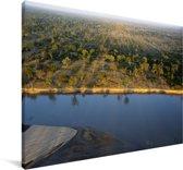 Uitzicht over het Nationaal park South Luangwa Canvas 60x40 cm - Foto print op Canvas schilderij (Wanddecoratie woonkamer / slaapkamer)