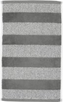 Beddinghouse Sheer Stripe - Set van 2 gastendoekjes - 600 gr/m2 - 30x50 cm - Antraciet