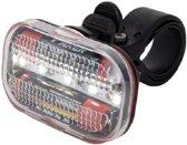 Multifunctioneel 5 LED Fiets Achterlicht |Fietslamp inclusief batterijen| rood licht |AAA batterijen |inclusief houder zadelpen en clip voor riem of tas