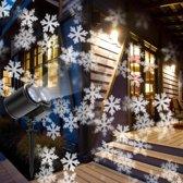 W&W Company - Dubbele Led Projectielampen | Kerstverlichting | Tuinverlichting | Witte Sneeuvlokken | Waterdicht | Projectie van 60m2
