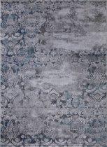 Design Laagpolig Vloerkleed Mumbai 200 x 290 cm - Grijs / Blauw