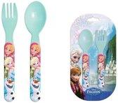Disney Frozen Bestek set - Plastic - Lepel en Vork